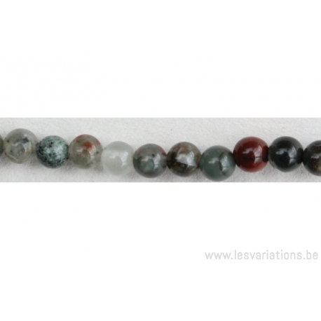 Perle en pierre naturelle - Agate d'Afrique