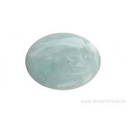 Perle en pierre naturelle - Jade Birman - ovale