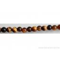 Perle en pierre naturelle - oeil de tigre