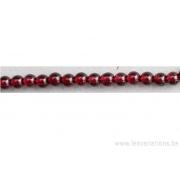 Perle en pierre naturelle - grenat d'Inde