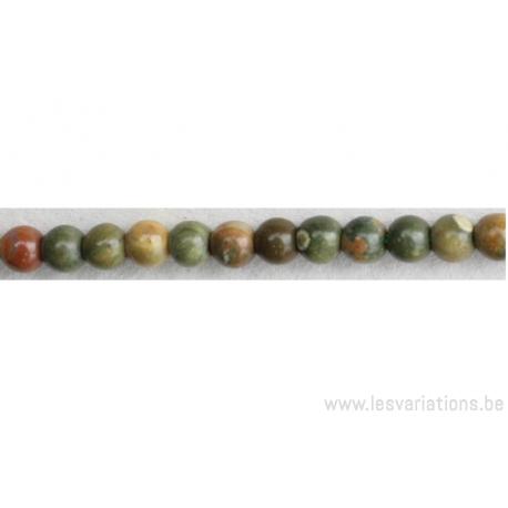Perle en pierre naturelle - Rhyolite