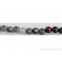 Perle en pierre naturelle - Agate dendrite