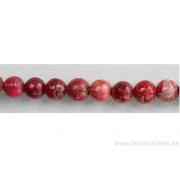 Perle en pierre naturelle - jaspe