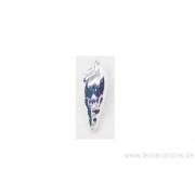 Breloque grande tourelle - plaqué 10 microns - argenté