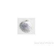 Breloque coquillage - plaqué 10 microns - argenté
