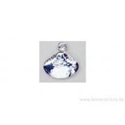 Breloque coquillage ( palourde) - plaqué 10 microns - argenté