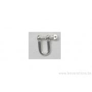 Breloque - plaqué 10 microns - argenté