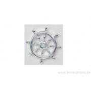 Breloque roue de bateau - plaqué 10 microns - argenté