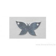 Breloque en forme de papillon - plaqué 10 microns - argenté
