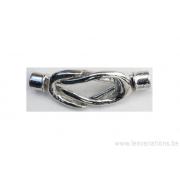 Fermoirs aimanté en forme de noeud - argenté