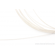 Câble fin - en argent 925 - 0,45 mm - par 10 cm