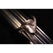 Bague la feuille - bijoux en argent 925 - collection les chiffonnées