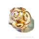 """Perle ronde en verre """"golden magic"""" gothique"""