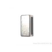 Intermédiaire rectangulaire pour bracelet de cuir plat
