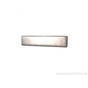 Intermédiaire 20mm rectangle pour bracelet de cuir plat