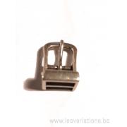 """Fermoir """"boucle de ceinture"""" pour bracelet cuir plat 10 mm"""