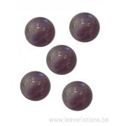Cabochon pierre semi-précieuse améthyste 12 mm