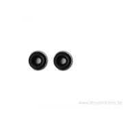 Anneaux avec silicone noir pour bloquer les perles - en argent 925