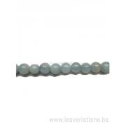 Perle en pierre naturelle - Aigue marine - 4 mm