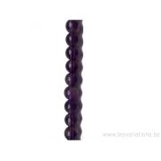 Perle en pierre naturelle - améthyste brillante 4 mm -fil de 39,50 mm