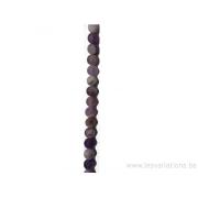 Perle en pierre naturelle - améthyste mate 4 mm -fil de 39 mm