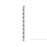 Perle en pierre naturelle - améthyste + chaîne en argent 925 par 20 cm