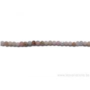 Perle en pierre naturelle - opale rose d'Inde -fil de 39 mm