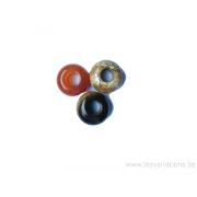Différentes pierres naturelles trou de 5 mm - par 3