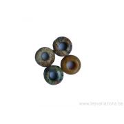 Différentes pierres naturelles trou de 5 mm - par 4