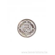 Médatillon Chakra 1 - argent 925