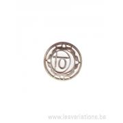 Médatillon Chakra 2 - argent 925
