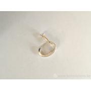Fermoir ovale avec ressort 18 mm en argent 925