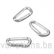 Fermoir en mousqueton alpin 20 mm argent 925