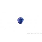 Perle en verre en forme de goutte - mauve x 4