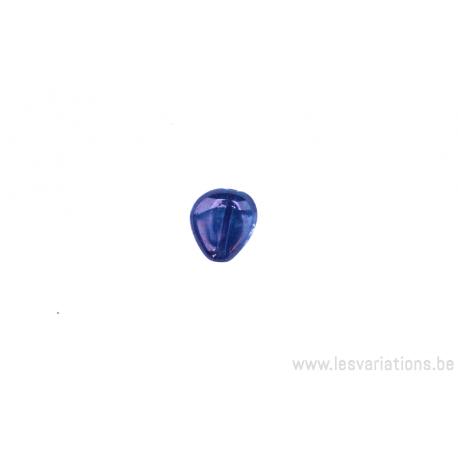 Perle en verre en forme de goute - mauve