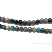 Perle en pierre naturelle Aventurine - ronde - multi couleur - 10 mm