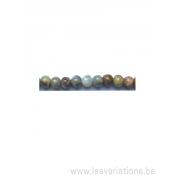 Perle en pierre naturelle Aventurine - ronde - multi couleur - 6 mm - fil de 40cm