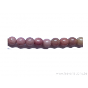 Perle en pierre naturelle -rhodonite- 6mm
