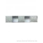 Perle en pierre naturelle - cristal de roche givrée carrée