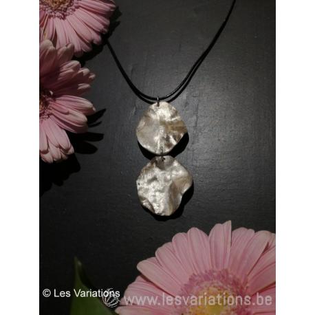 La feuille - bijoux en argent 925 - collection Karin Fontaine
