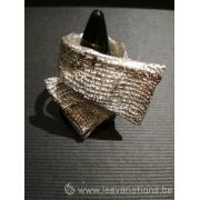 Bague l'écharpe - bijoux en argent 925 - collection les chiffonnées