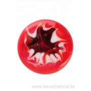 Cabochon en verre artisanal - rouge