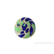 Cabochon en verre artisanal - bleu vert