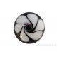 Cabochon en verre artisanal - spritale - noir et blanc