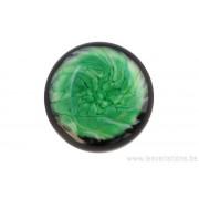 Cabochon en verre artisanal - abstrait vert