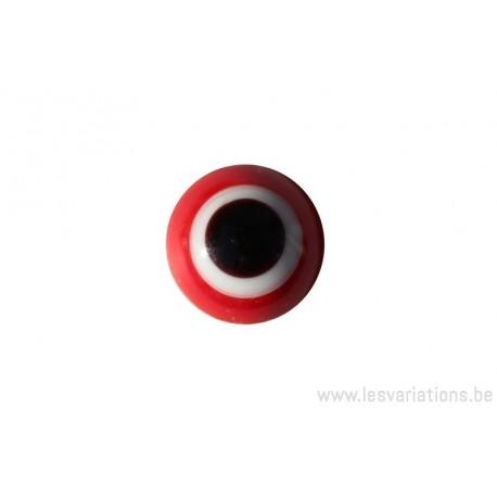 Cabochon en verre artisanal - le petit point - rouge