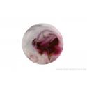 Cabochon en verre artisanal - motif abstrait - rose