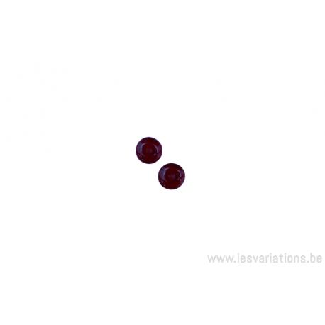 Perle en verre ronde en forme de roue -rouge