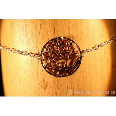 """bracelet en argent 925 médaillon """"arbre de vie"""""""
