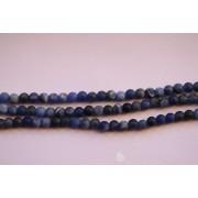 Perle en pierre naturelle - sodalite bleu- vendu par fil - 4 mm